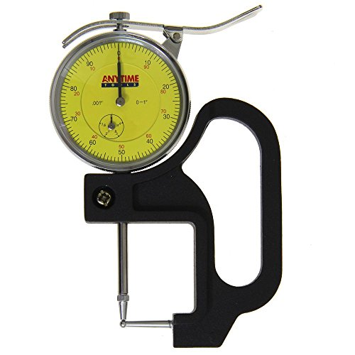 "Anytime Tools Reloading Thickness Gauge Quick Tube Measuring Ball Anvil Dial Indicator 0-1""/0.001"""
