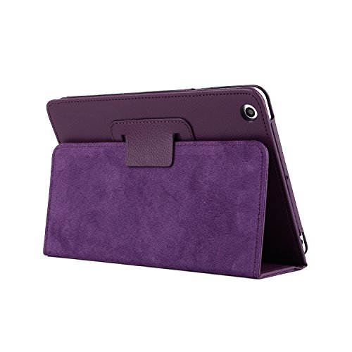 Price comparison product image Air / Air 2 iPad Case,  PU Leather Simple Comfortable Style Shockproof Waterproof Tablet PC Case With Stand Function Cover for iPad Air / Air 2 / 2017 / 2018 New iPad - Purple