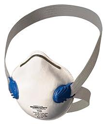Jackson Safety 64260  R10 Particulate Respirator, N95, White w/Gray Straps, 10/Box