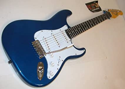 Oscar Schmidt by Washburn doble Cutaway Guitarra eléctrica, azul ...