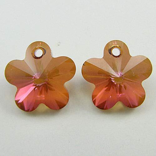 buyallstore 2 14mm Swarovski Crystal Flower Beads 6744 Crystal cop