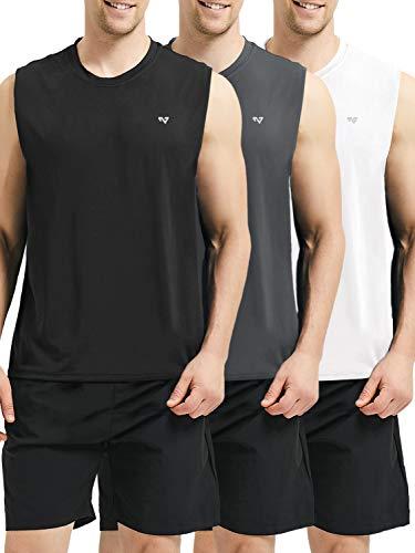 3a4a2042a9eb8 Roadbox Men s Performance Sleeveless Workout Muscle Bodybuilding Tank Tops  Shirts
