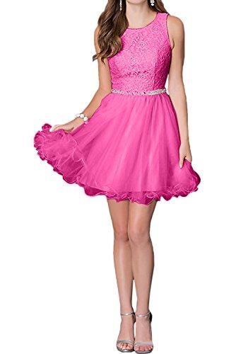 Ivydressing Rundkragen Abendkleid Brautjungfernkleider Ballkleid Bildfarbe Kurz Spitze Sweetheart 55wvfr