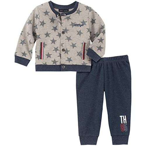 Tommy Hilfiger Baby Boys' 2 Pieces Cardigan Pants Set
