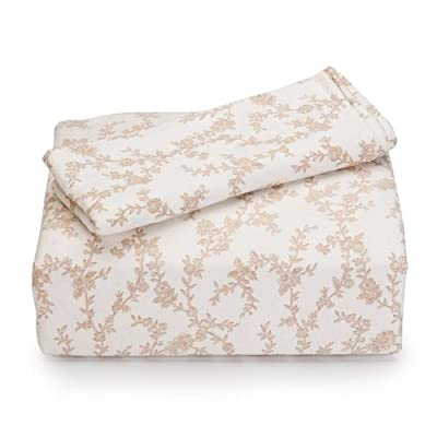 Laura Ashley Flannel Queen Sheet Set, Victoria - Queen set includes flat sheet, fitted sheet, 2 standard pillowcases 100-Percent cotton Fits 15-inch mattress - sheet-sets, bedroom-sheets-comforters, bedroom - 41rdoCeJrCL. SS400  -