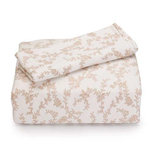 Laura Ashley Flannel King Sheet Set, Victoria