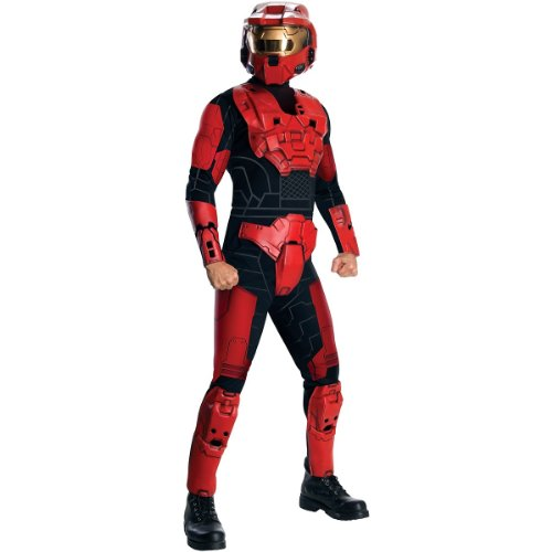 Halo Deluxe Spartan Costume, Red, -