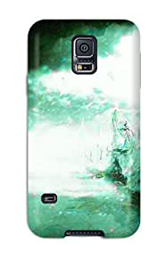Galaxy S5 Case Cover - Slim Fit pc Protector Shock Absorbent Case (3d)
