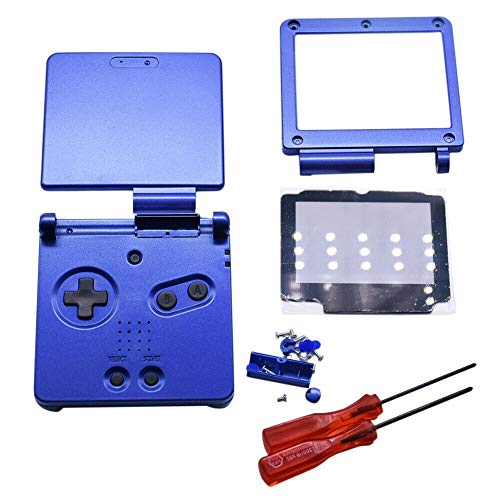 Meijunter Replacement Full Housing Shell Cover Case Repair Parts Set w/Lens&Screwdriver for Nintendo Gameboy Advance SP GBA SP - Game Nintendo Repair Boy