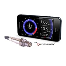 PLX Devices SM-AFR Air/Fuel Ratio UEGO Wideband Oxygen O2 Sensor + MultiGauge Link Combo with Bosch LSU4.9 O2 Sensor for Smartphone Apple / Android Interface