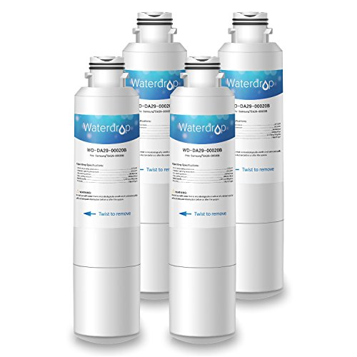 Waterdrop DA29-00020B Replacement for Samsung DA29-00020B, DA29-00020A, HAF-CIN/EXP, 46-9101 Refrigerator Water Filter (4 Pack) (Fridge Samsung Filters)
