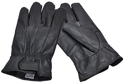 Accessoryo Hommes De Cuir Gants Pour Véritables Noirs En Tailles Différentes Avec Velcro TOw6rRT