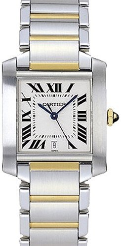 Cartier Tank Francaise Mens Gold & Steel Watch
