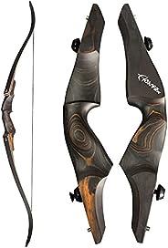 NC93 Original Black Hunter 60'' Takedown Recurve Bow 20-60lb Wooden Riser Right Hand Archery Huntin