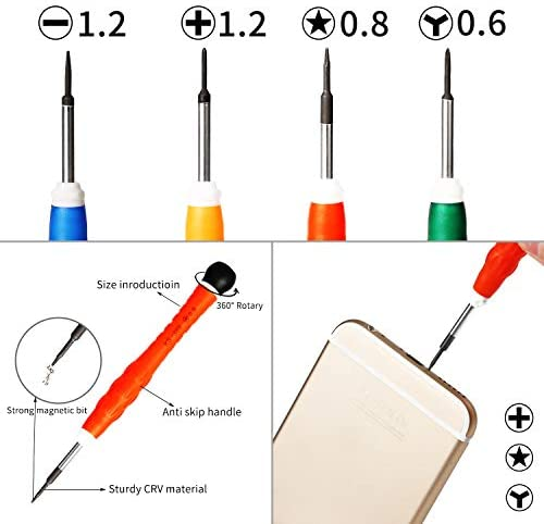Fulok Easy JF-8168 9 in 1 Professional Screwdriver Repair Open Tool Kits for iPhone Accessory Replace Parts Screws