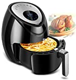 Digital Deep Air Fryer Cooker - 1500W Electric Hot Air Cooker with 7 Cooking Preset 3.8QT, Digital Touch Screen, Detachable Basket Dishwasher Safe, Recipes Included…