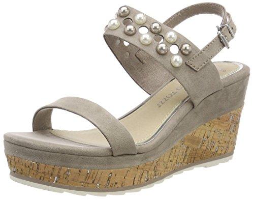 Caviglia Donna Cinturino 28376 con alla Tozzi Beige Sandali Marco Taupe x10wqYZZ