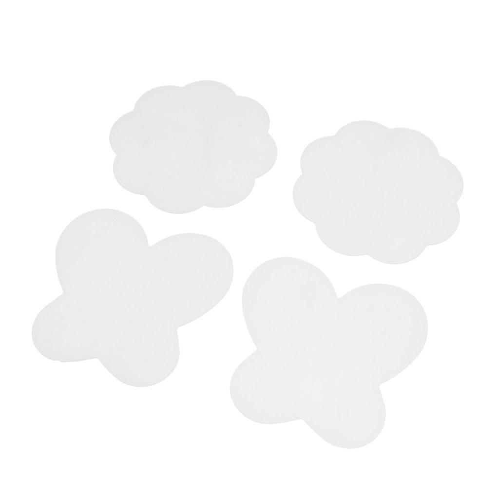 Faltbare Farbpalette Mischpalette aus Silikon Baoblaze 4 Stk Klar