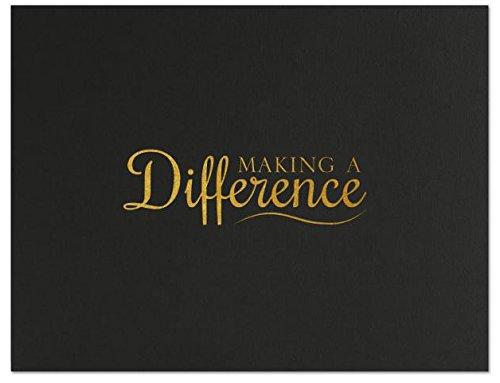 Successories 751543BK Making a Difference Linen Certificate Folders, Black