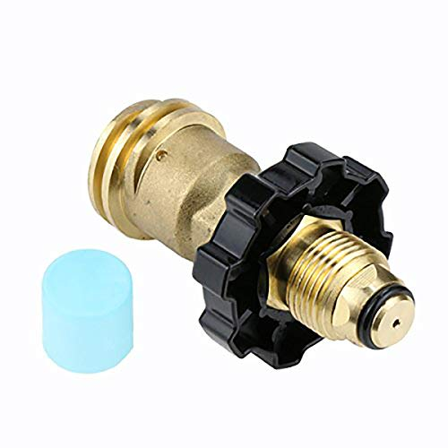 GASLAND Propane Adapter, POL to QCC1 Type1 Propane Tank Adapter with Wrench, LP Gas Valves Grill Connector for Propane Cylinder, Suitable for RV Camper, Cylinder, BBQ Gas Grill, Heater ()