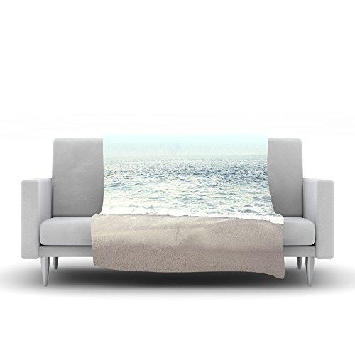 Kess InHouse Monika Strigel The Sea Blue Coastal Fleece Throw Blanket 40 x 30