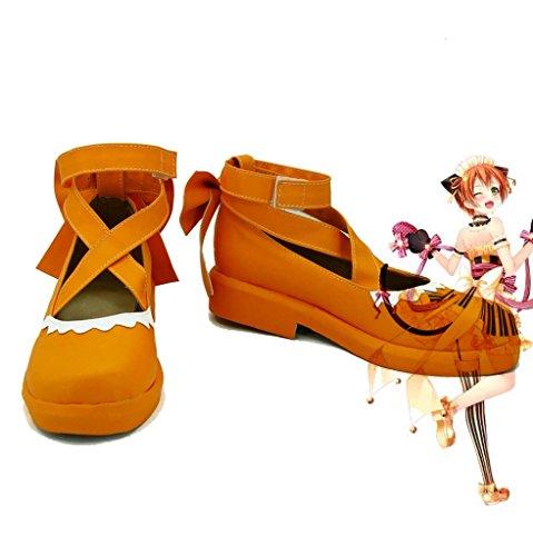 ama Vive! Love Live Happy Valentines Day Maid Live! Hoshizora Rin Cosplay Zapatos Botas Por Encargo