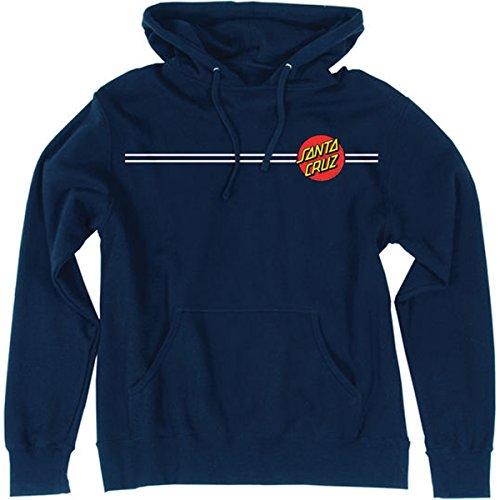 Santa Cruz Men's Classic Dot Pullover Hooded Sweatshirt (Small, Navy)