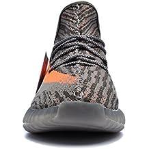 350 V2 Sneakers Destroyer Sneakers Lifting Size 12 Women's Sneakers Yeezy Men's Sneakers leeng Sneakers Enhancement Boost 350 Free Waterproof Bags (US_9.5/EUR_43/cm_26.5, Gray Orange)