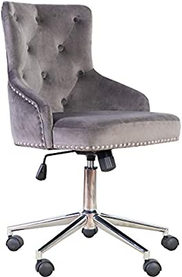 Amazing Irene House Modern Mid Back Tufted Velvet Fabric Computer Desk Chair Swivel Adjustable Accent Home Office Task Chair Executive Chair With Soft Seat Ocoug Best Dining Table And Chair Ideas Images Ocougorg
