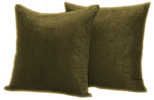 Faux Suede 2 pack Decorative Pillow covers 18