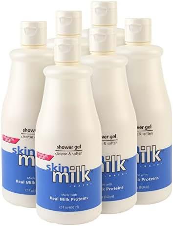 SkinMilk Shower Gel, 22-Ounce  (Pack of 6)