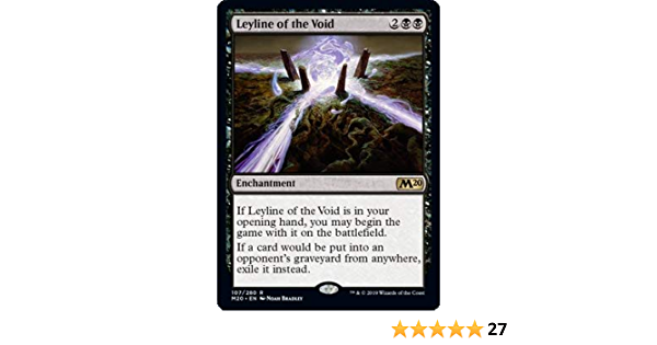 Leyline of the Void NM//Never Played MTG Core Set 2020