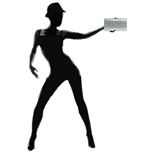 Rigide Paillettes À Pour Caspar Clutch Argenté Élégante Femme Pochette Ta340 vxXXqEf