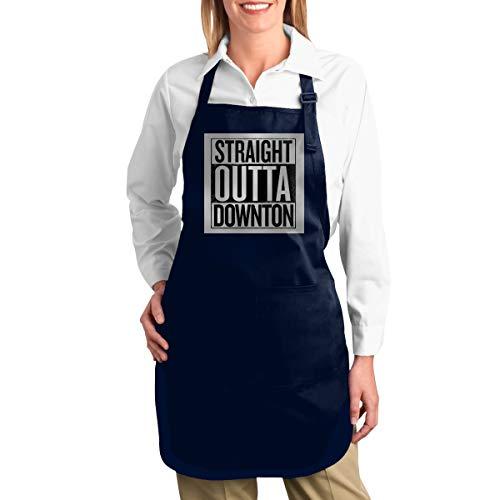 ZANGLUOJI Straight Outta Downton Abbey Heavy Duty Canvas Work Apron,Tool Pockets, Back Straps Adjustable