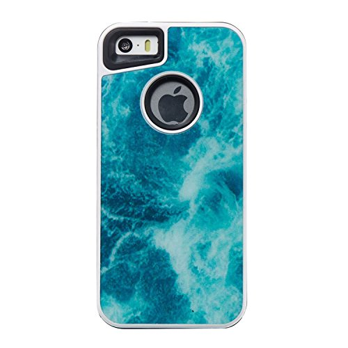 HYAIT® For IPHONE 5S/SE Case[Marble][Kickstand] TPU+PC Premium Hybrid Shockproof Kickst Bumper Full-body Rugged Dual Layer Stents Cover-DLS06