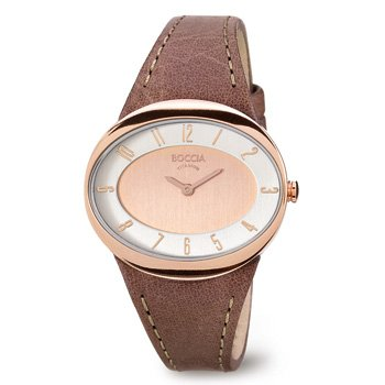 Boccia Women's Quartz Watch 3165-18 with Leather Strap