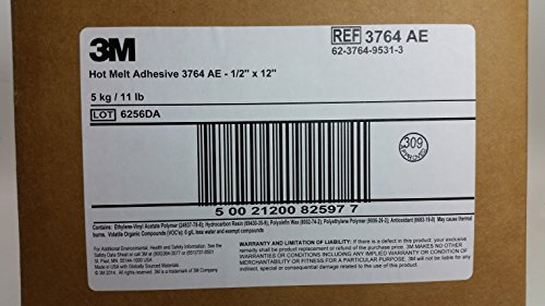 3M Hot Melt Adhesive 3764 AE Clear.45 in x 12 in, 11 lb by 3M (Image #3)