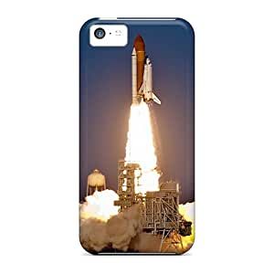 Apple Iphone 5c LWK7156ZKst Allow Personal Design High Resolution Space Shuttle Pictures Shock-Absorbing Hard Phone Covers -JamieBratt