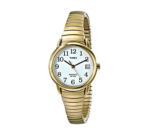 Timex Women's T2H351 Easy Reader Gold-Tone Stainless Steel Expansion Band Watch ()