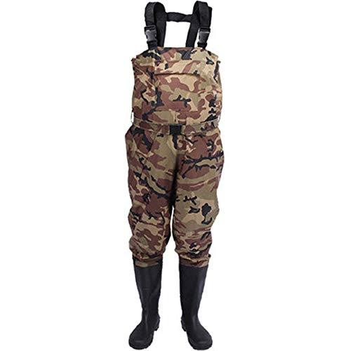 InChengGouFouX Fishing Pants Boot Foot Chest Wader Nylon/PVC Waterproof Fishing & Hunting Waders For Men And Women…