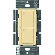 Lutron Caseta Wireless Smart Lighting Switch for All Bulb Types and Fans, PD-6ANS-IV, Ivory, Works with Alexa, Apple HomeKit, and the Google Assistant