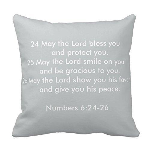 Generic Custom Square Bible Verse Pillow Cover Cotton Pillowcase Cushion Cover 18 X 18