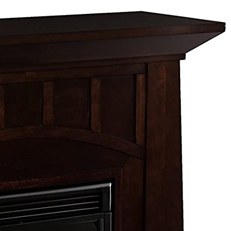 Amazon.com: Bayard Espresso Stacked Stone Electric Fireplace: Home ...
