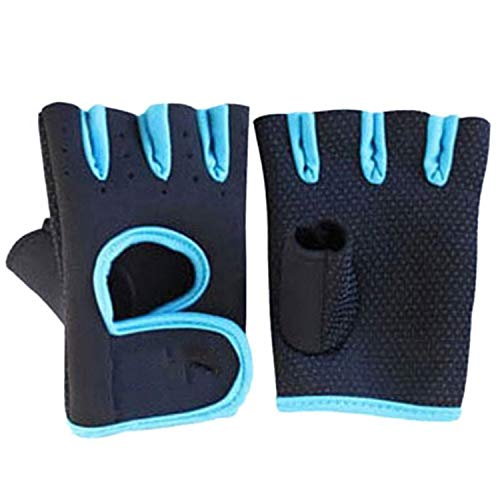 1 Pair Men Women Exercise Half Finger Gloves Weight Lifting Crossfit Sport Cycling Fitness GYM Wo