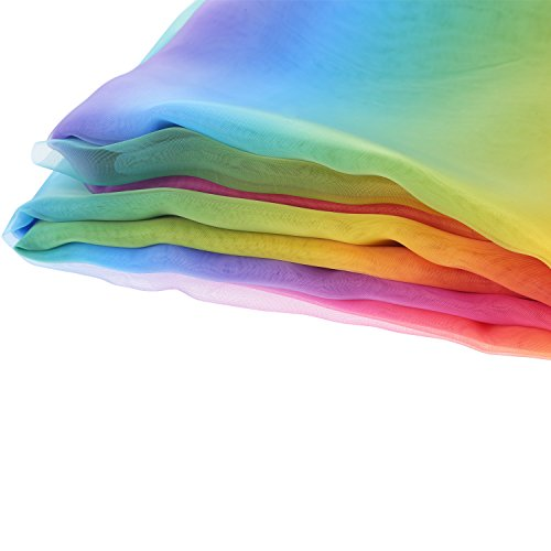 BBTO 16 Feet by 54 Inch Rainbow Organza Multicolored Voile Dress Fabric Fancy Costumes Decorations by BBTO (Image #3)