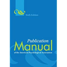 (Spiral) Publication Manual of the American Psychological Association