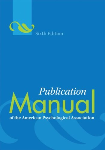 (Publication Manual of the American Psychological Association)