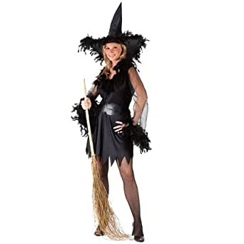 Sexy Feather Witch Adult Costume (Standard)