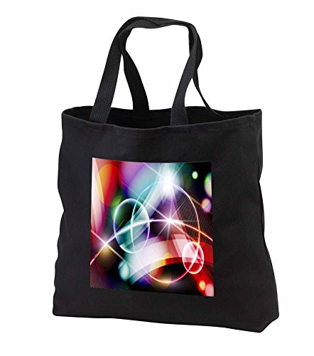 Price comparison product image Anne Marie Baugh - Abstract - Circles And Streamers Light Of Color Abstract - Tote Bags - Black Tote Bag JUMBO 20w x 15h x 5d (tb_251711_3)