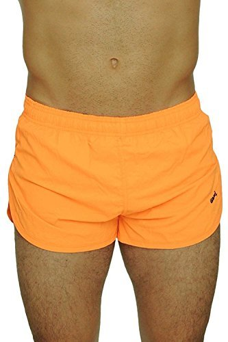 UZZI Men's Basic Running Shorts Swimwear Trunks 1830 Neon Orange M by UZZI